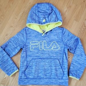 Fila girl's hoodie yellow and blue large age 10-12